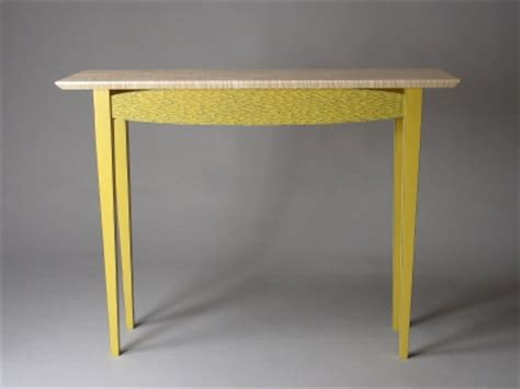 yellow sofa table table carved and painted wood david hurwitz