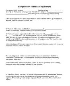 Short Term Tenancy Agreement Template Free Rental Lease Agreements 10 Free Word Pdf Documents