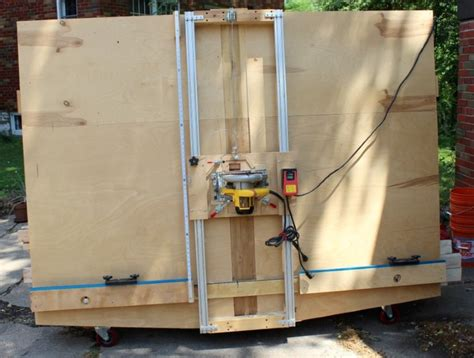woodworking build a vertical panel saw plans pdf diy panel saw 2manyprojects