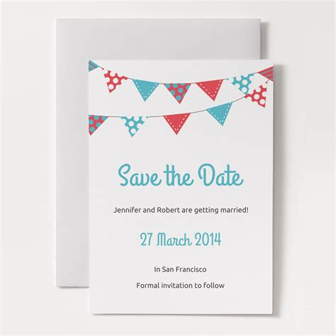 free save the date business card templates printable save the date template bunting 1a o jpg 1426672481