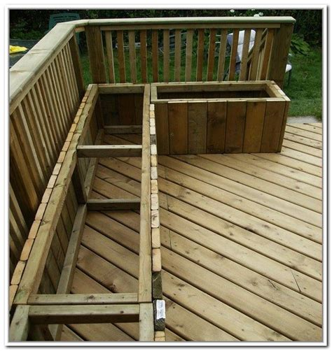 deck benches with storage 17 best images about backyard oasis on pinterest outdoor