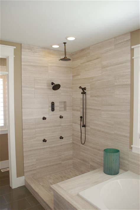 shower with ceiling rain shower head icreatables com