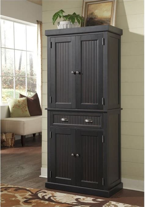 modern pantry cabinet home styles nantucket pantry distressed black modern