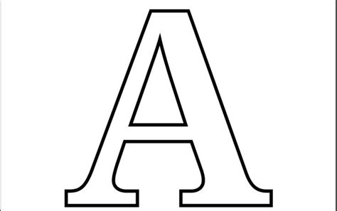imprimir letra a para recortar colorear letras pinterest