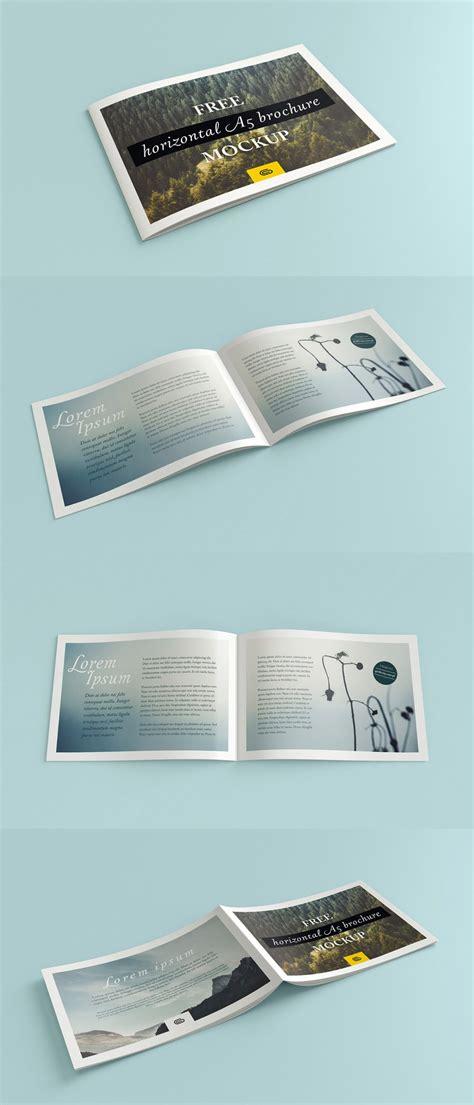 mockup design for brochure horizontal a5 brochure mockup mockup depot
