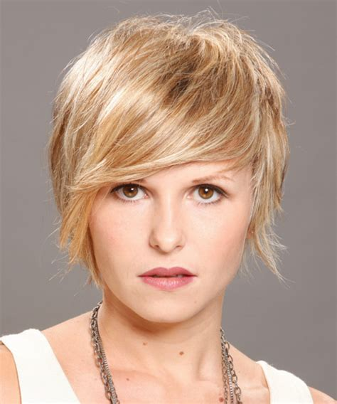 casual hairstyles short hair short straight casual hairstyle medium blonde chagne
