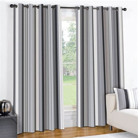 gray and cream striped curtains show me cheaper striped black cream grey pair lined