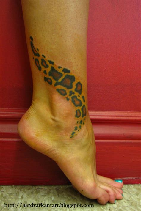 leopard tattoos aardvark ant last week at screaming ink