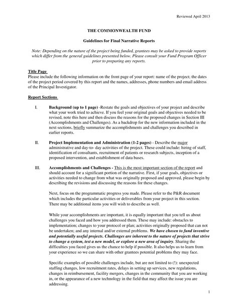 narrative report examples  examples