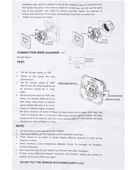 rab sp6 wiring diagram rab motion sensor led