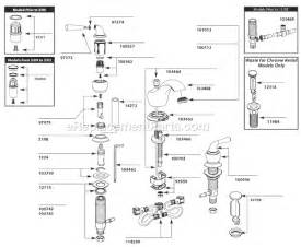 moen kitchen faucet repair manual moen t4570 parts list and diagram ereplacementparts