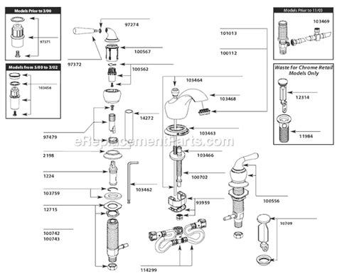 Glacier Bay Kitchen Faucet Replacement Parts by Moen T4570 Parts List And Diagram Ereplacementparts Com