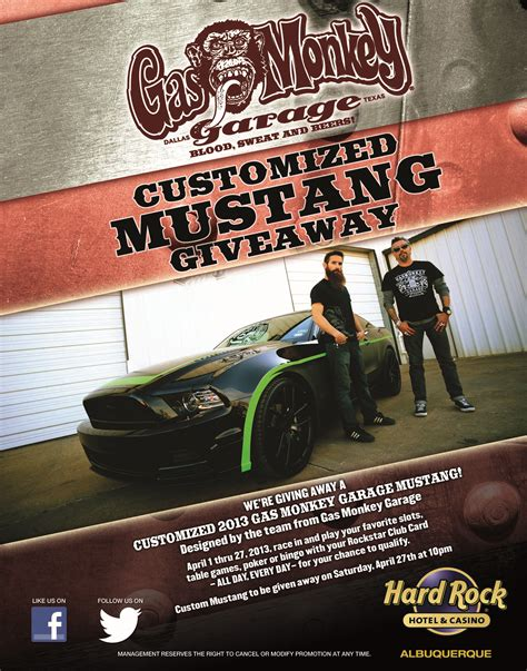 Gas Monkey Garage 2013 gas monkey garage customizes 2013 ford mustang coupe for rock hotel and casino albuquerque