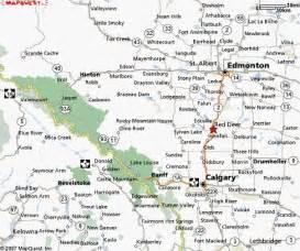 deer alberta canada map deer map