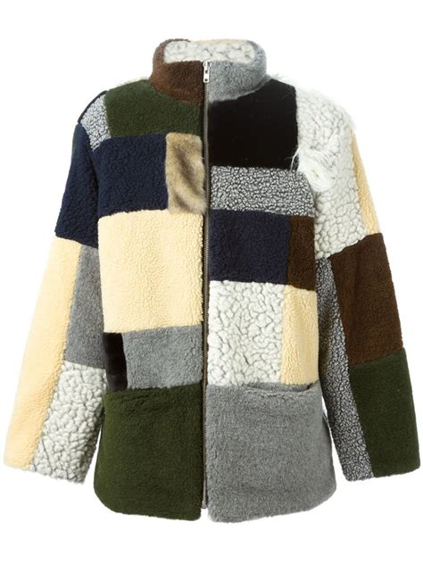 Patchwork Coat - gosha rubchinskiy patchwork fleece coat in multicolor for