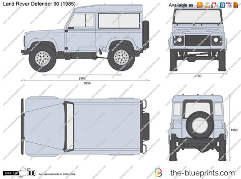land rover defender vector the blueprints com vector drawing land rover defender 90