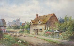 Sandwich Auction House by Henry Syvester Stannard Watercolor
