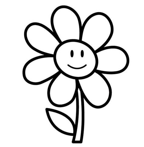 black and white coloring pages of flowers easy printable flower coloring pages diy craft ideas