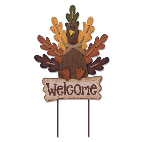 glitzhome 24 62 in h burlap wooden welcome turkey yard