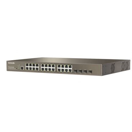Switch Hub 24 Port Tenda tenda teg3224p l2 manage poe gigabit switch 24 port 4 port sfp จ าย