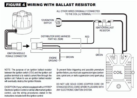 mallory ignition wiring diagram mallory magnetic breakerless distributor wiring diagram