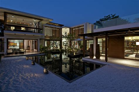 U Shaped House Plans With Pool In Middle gallery of the courtyard house hiren patel architects 17