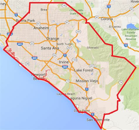 map of orange county orange county family feud