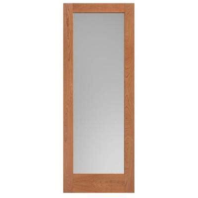 84 Lumber Interior Doors by Masonite 40 In X 84 In Cherry Veneer 1 Lite Solid Wood