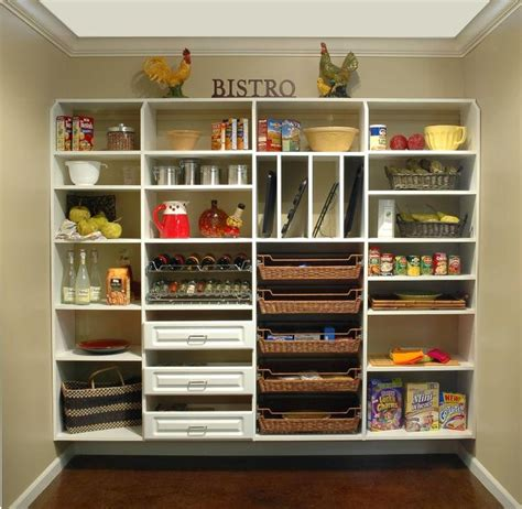 Pantry Storage Baskets by White Shelves With Baskets White Pantry Shelving System
