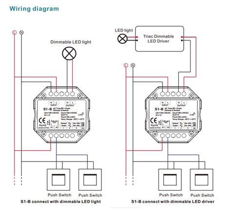 Senter Push On Dimmer 3 In 1 100 240vac triac rf dimmer s1 b rf push dimmer for led light kit s1 b