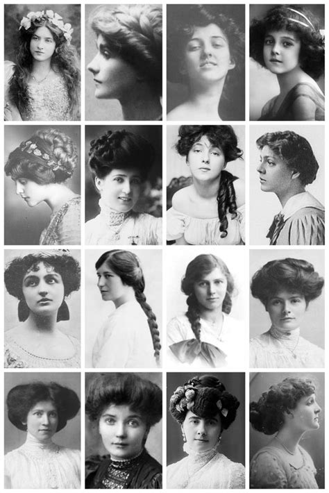 hair fashions from chosen era edwardian hairstyles a collection of edwardian the