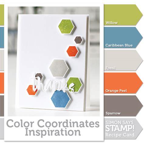 color coordinates simon brand ink simon says st