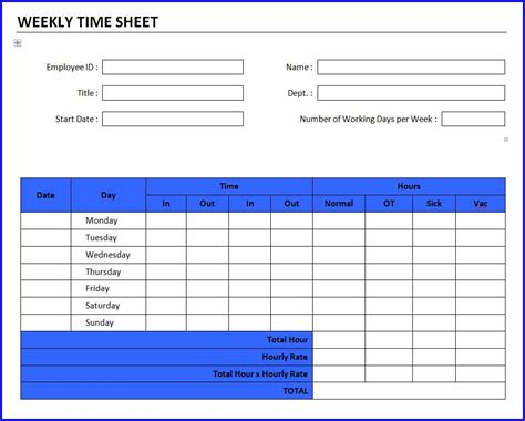 weekly timesheet template word driverlayer search engine