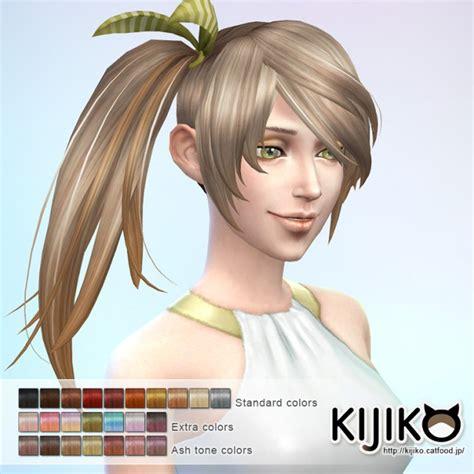sims 4 ponytails with bangs side ponytail hair at kijiko 187 sims 4 updates