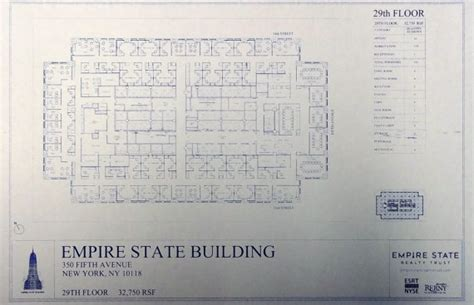 empire state building floor plans empire state building 29th floor plan blueprint by