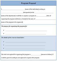 template for program proposal sample of program proposal