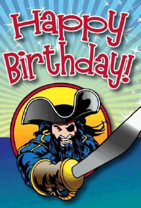 printable birthday cards pirate pirate with sword birthday card