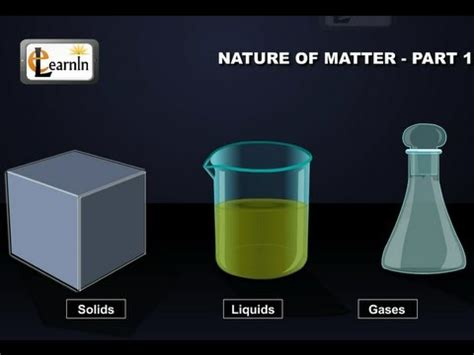 Particulate Nature Of Matter Part 1 Chemistry