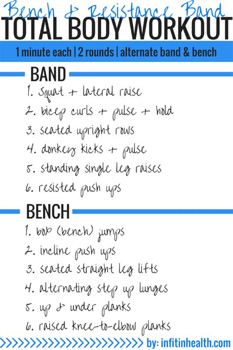 bench routine bench resistance band total body workout