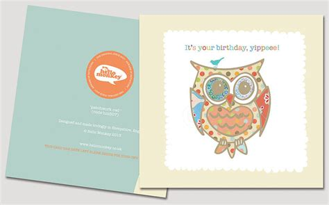 printable owl birthday card card invitation sles cute owl birthday cards for