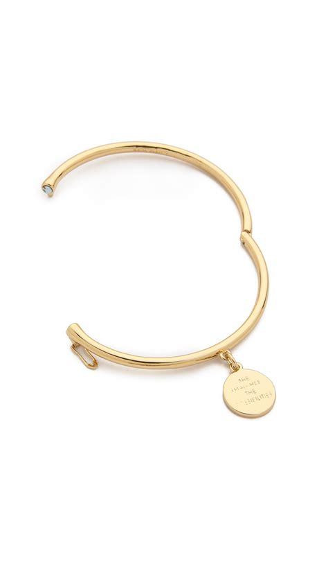 Kate Spade Cl011 Set 3 In 1 Semi Premium kate spade new york zodiac charm bangle bracelet capricorn in metallic lyst