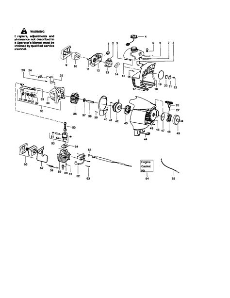 sears craftsman weed trimmer parts carburetor muffler diagram parts list for model