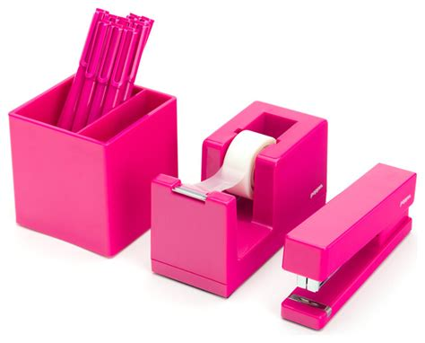 Pink Desk Accessory Sets Starter Set Pink Craftsman Desk Accessories