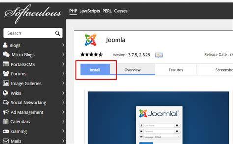 tutorial instal joomla dengan xp instalasi joomla menggunakan softaculous rumahweb s news