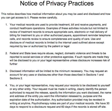 notice of privacy practices template 17 best images about free counseling note templates on