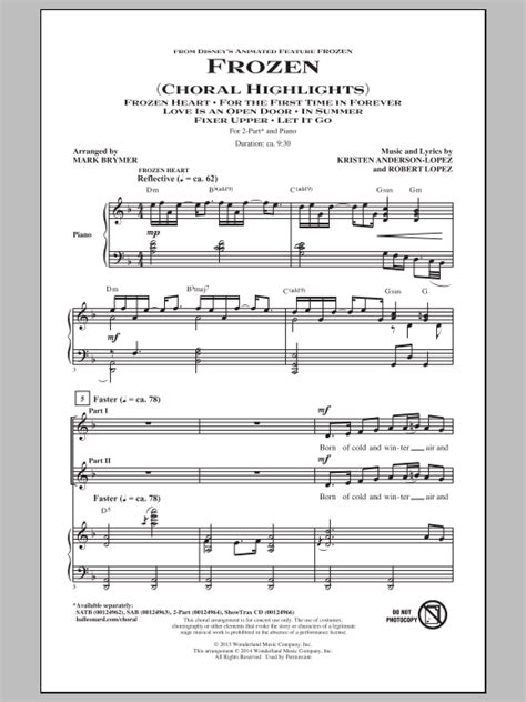 skye boat song strumming pattern frozen choral highlights arr mark brymer 2 parte