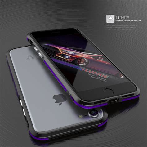 Luphie Metal Bumper Aluminium Iphone 7 Plus 8 Plus Merah Hitam ultra slim luphie aluminum frame metal bumper cover for iphone x 6 7 8 plus ebay