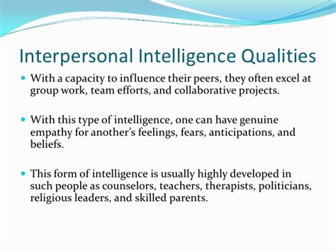 interpersonal intelligence