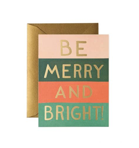 card greetings be merry bright colors greeting card by rifle paper co