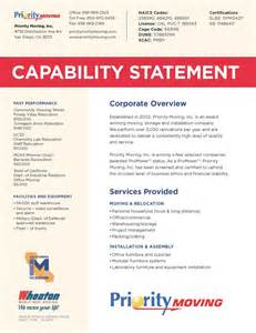 statement of capability template 10 best images about capabilities statement on